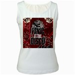 Panic At The Disco Poster Women s White Tank Top Front