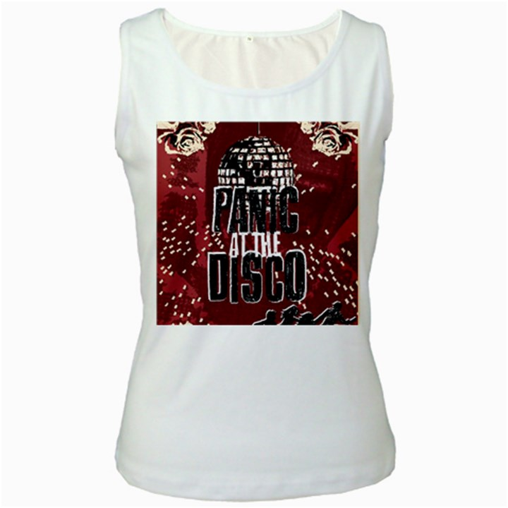 Panic At The Disco Poster Women s White Tank Top