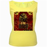 Panic At The Disco Poster Women s Yellow Tank Top Front