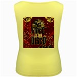 Panic At The Disco Poster Women s Yellow Tank Top Back