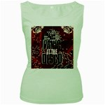 Panic At The Disco Poster Women s Green Tank Top Front