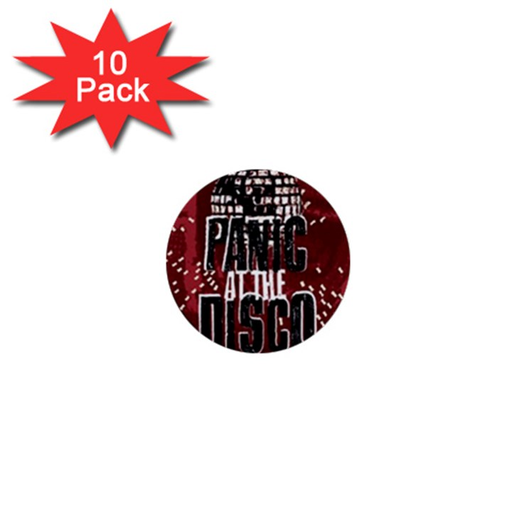 Panic At The Disco Poster 1  Mini Buttons (10 pack)