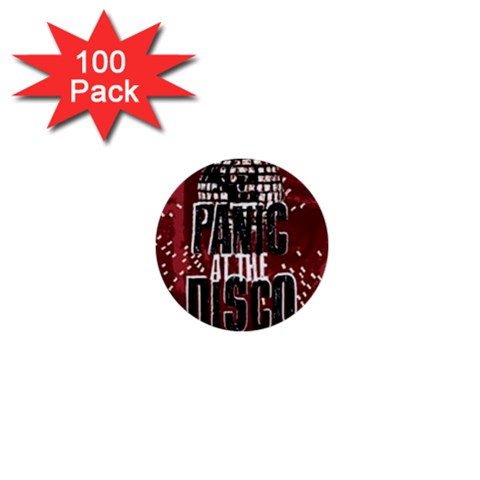 Panic At The Disco Poster 1  Mini Buttons (100 pack)