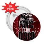 Panic At The Disco Poster 2.25  Buttons (10 pack)  Front