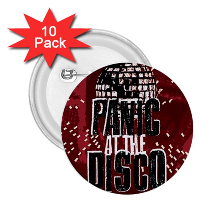 Panic At The Disco Poster 2.25  Buttons (10 pack)