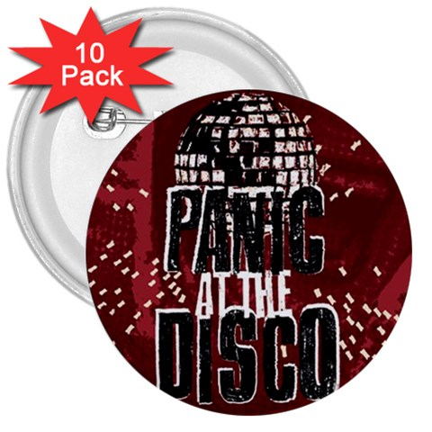 Panic At The Disco Poster 3  Buttons (10 pack)