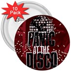 Panic At The Disco Poster 3  Buttons (10 pack)  Front