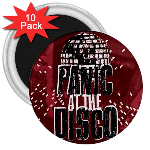 Panic At The Disco Poster 3  Magnets (10 pack)