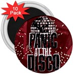 Panic At The Disco Poster 3  Magnets (10 pack)  Front