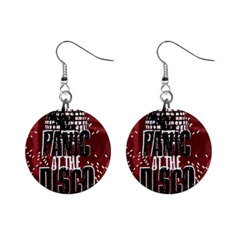 Panic At The Disco Poster Mini Button Earrings
