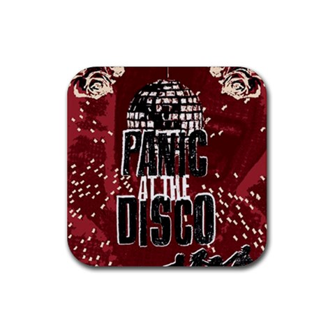 Panic At The Disco Poster Rubber Coaster (Square)