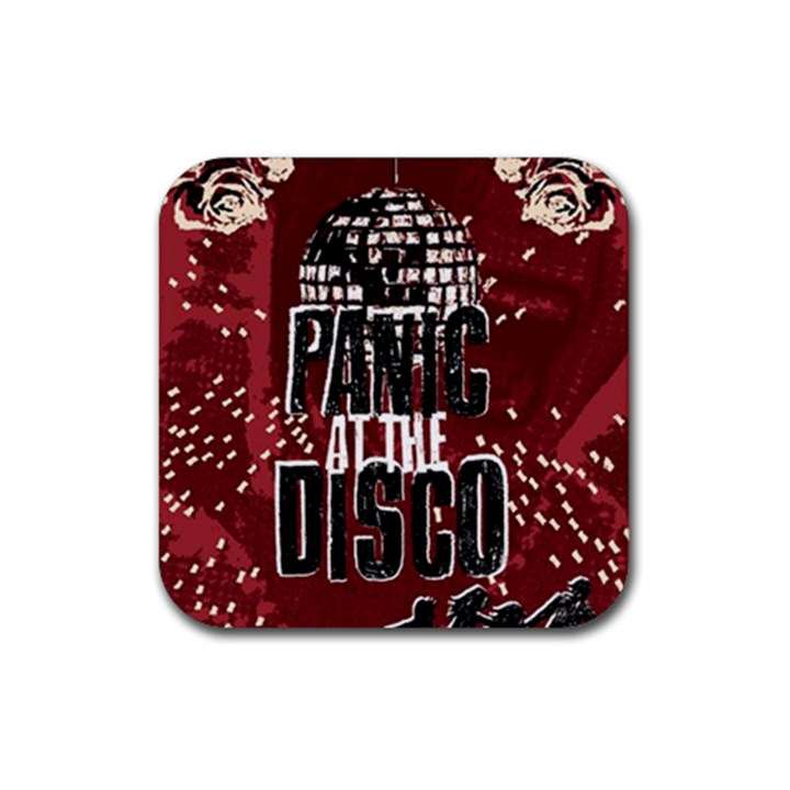 Panic At The Disco Poster Rubber Square Coaster (4 pack)