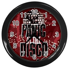 Panic At The Disco Poster Wall Clocks (Black)