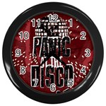 Panic At The Disco Poster Wall Clocks (Black) Front