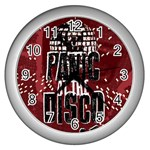 Panic At The Disco Poster Wall Clocks (Silver)  Front