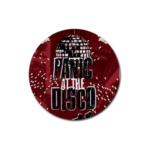 Panic At The Disco Poster Rubber Coaster (Round)
