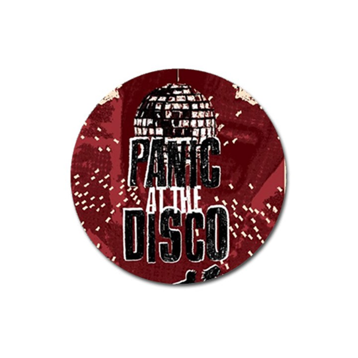 Panic At The Disco Poster Magnet 3  (Round)