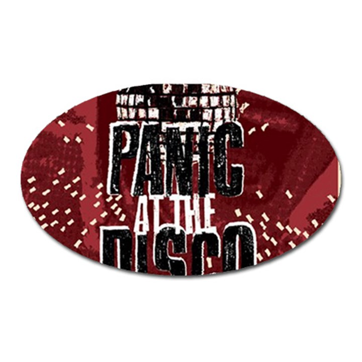 Panic At The Disco Poster Oval Magnet