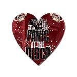 Panic At The Disco Poster Heart Magnet Front