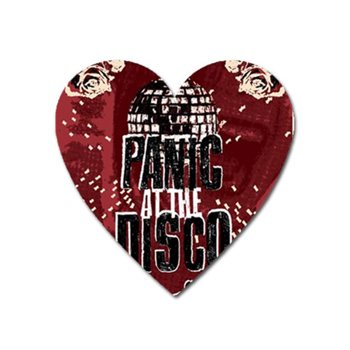 Panic At The Disco Poster Heart Magnet