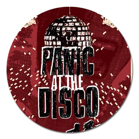 Panic At The Disco Poster Magnet 5  (Round)