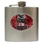 Panic At The Disco Poster Hip Flask (6 oz) Front