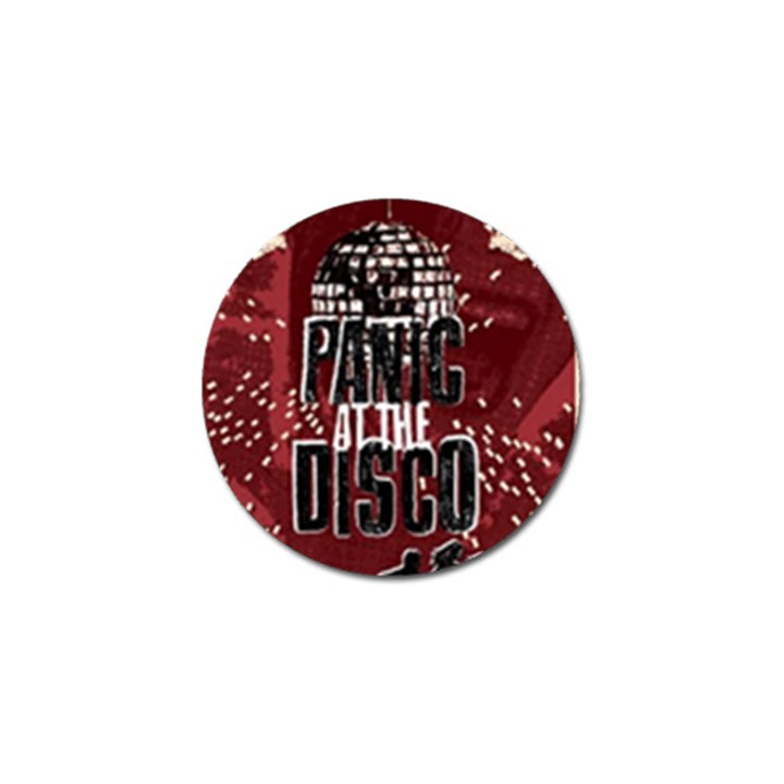 Panic At The Disco Poster Golf Ball Marker