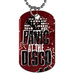 Panic At The Disco Poster Dog Tag (Two Sides) Back