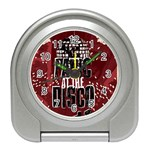 Panic At The Disco Poster Travel Alarm Clocks Front