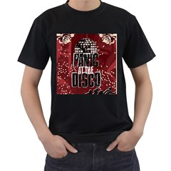 Panic At The Disco Poster Men s T Shirt (black) (two Sided)