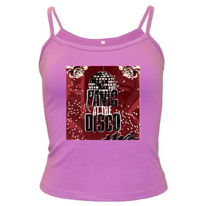 Panic At The Disco Poster Dark Spaghetti Tank