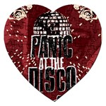 Panic At The Disco Poster Jigsaw Puzzle (Heart) Front