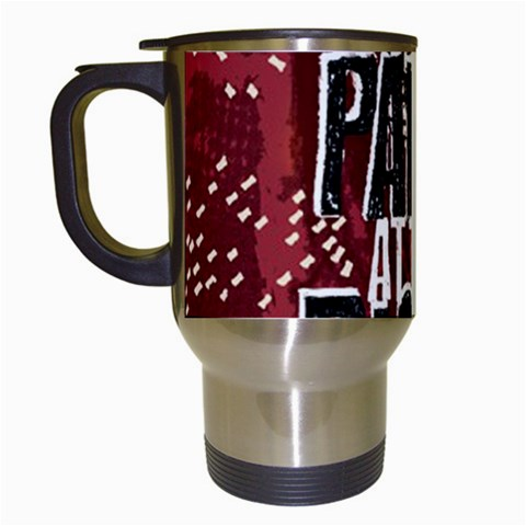 Panic At The Disco Poster Travel Mugs (White)
