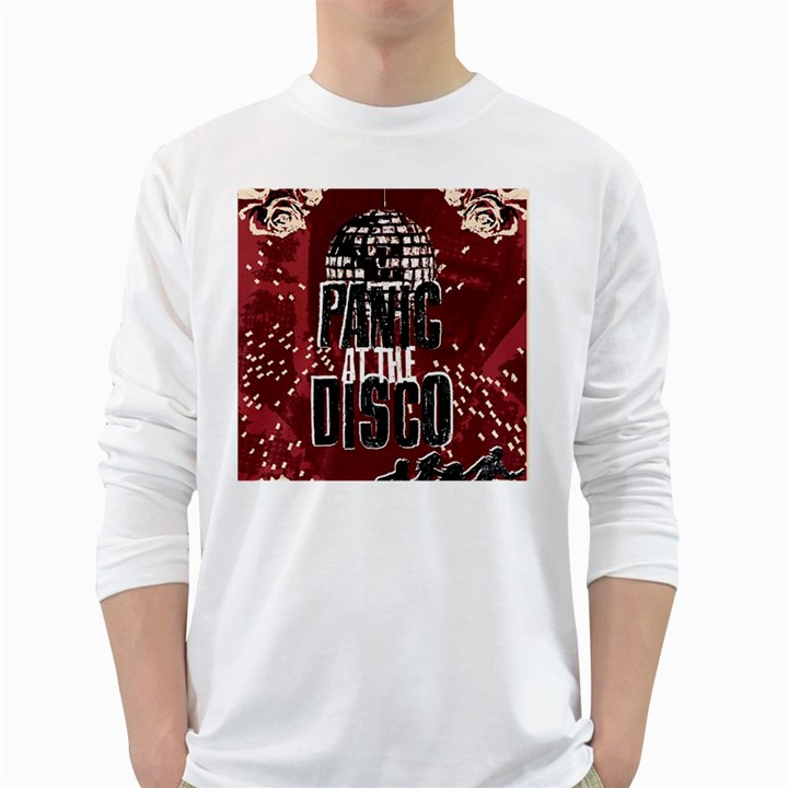 Panic At The Disco Poster White Long Sleeve T-Shirts