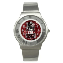 Panic At The Disco Poster Stainless Steel Watch