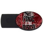 Panic At The Disco Poster USB Flash Drive Oval (4 GB)  Front