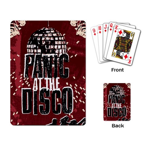 Panic At The Disco Poster Playing Card