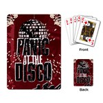 Panic At The Disco Poster Playing Card Back