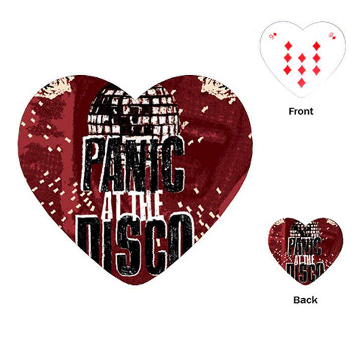 Panic At The Disco Poster Playing Cards (Heart)