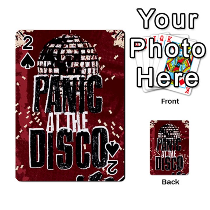 Panic At The Disco Poster Playing Cards 54 Designs