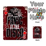Panic At The Disco Poster Playing Cards 54 Designs  Front - Heart2