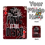 Panic At The Disco Poster Playing Cards 54 Designs  Front - Diamond2