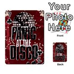 Panic At The Disco Poster Playing Cards 54 Designs  Front - Club7