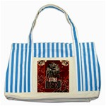 Panic At The Disco Poster Striped Blue Tote Bag Front