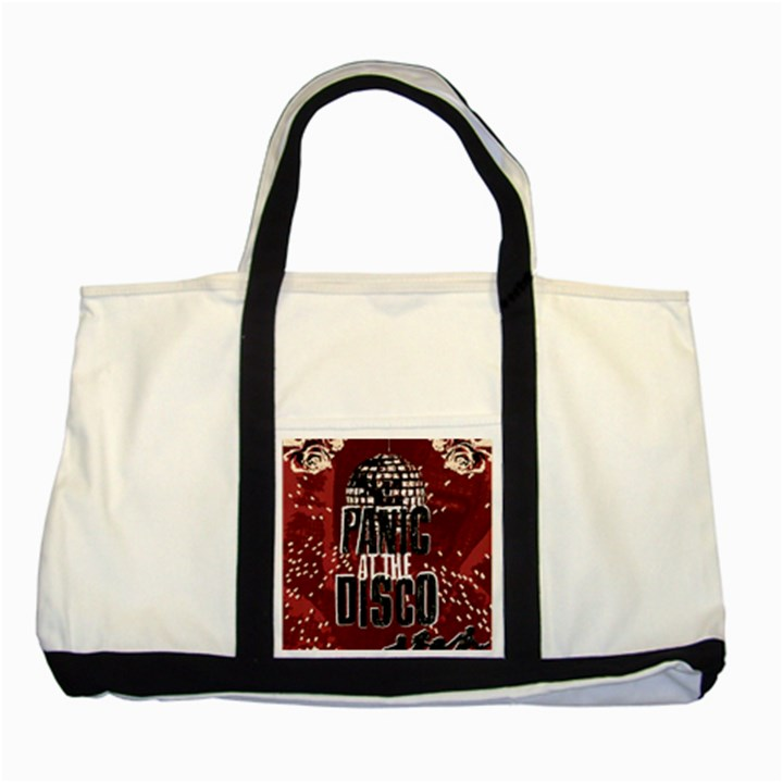 Panic At The Disco Poster Two Tone Tote Bag