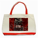Panic At The Disco Poster Classic Tote Bag (Red) Front