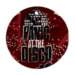 Panic At The Disco Poster Round Ornament (Two Sides)  Back