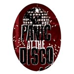 Panic At The Disco Poster Oval Ornament (Two Sides) Front