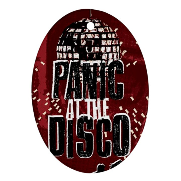 Panic At The Disco Poster Oval Ornament (Two Sides)