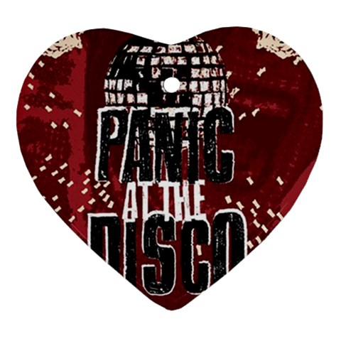Panic At The Disco Poster Heart Ornament (2 Sides)